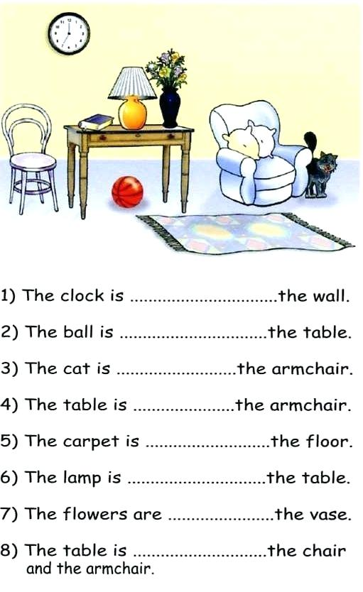 Preposition Of Place Exercises Prepositions With Pictures