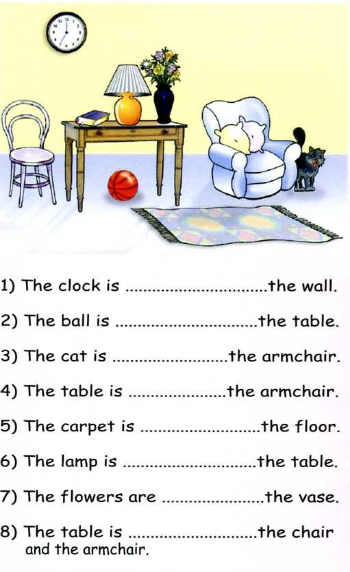 Preposition Of Place Worksheets Pdf