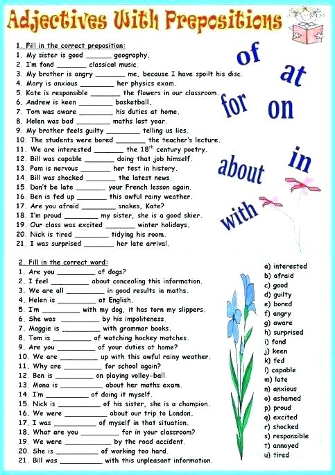 Prepositions Of Place Exercises Worksheets Prepositions Of Place
