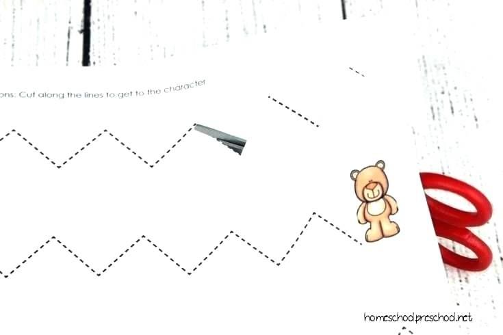 Preschool Cutting Practice Worksheets Scissors Skills For