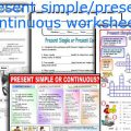 Simple Present Tense And Present Progressive Worksheets
