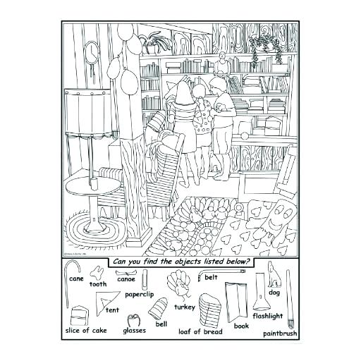 Hidden Picture Worksheets Printable Hard Pictures – Lacuponera
