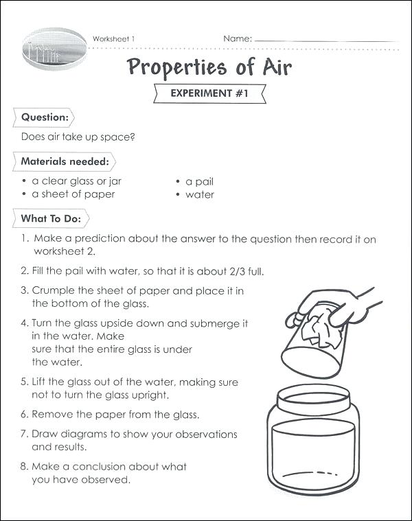Properties Of Air Worksheet Class Science Activities And