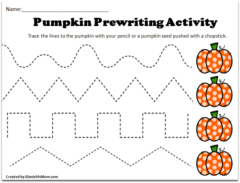 Pre K Tracing Worksheets With A Pumpkin Theme