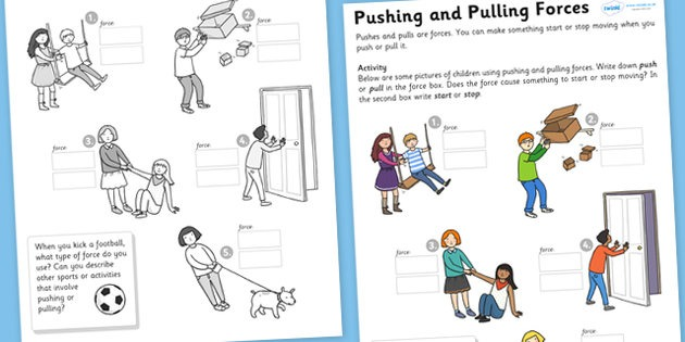 36 Push And Pull Worksheets For Kindergarten – Worksheet Template