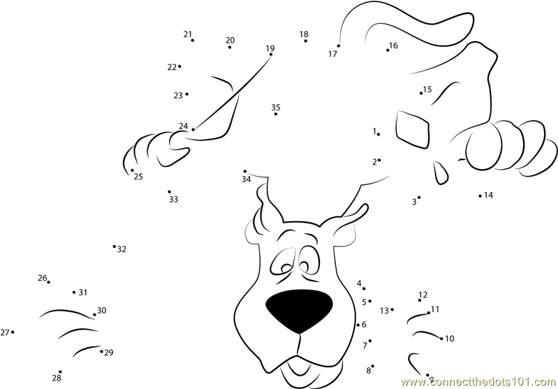 Scooby Doo Smelling Dot To Dot Printable Worksheet