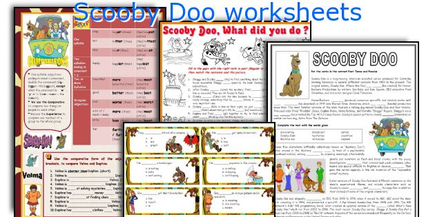 Scooby Doo Worksheets