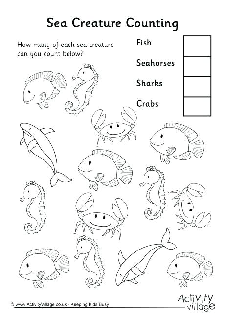 Sea Animals Worksheets Oceans And Seas At Ocean Worksheets Ocean