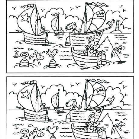 Spot The Difference Worksheets Printable Circle The Picture That