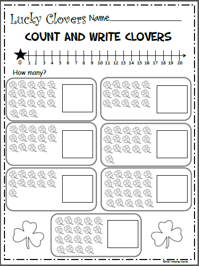 Free Math Counting Worksheet