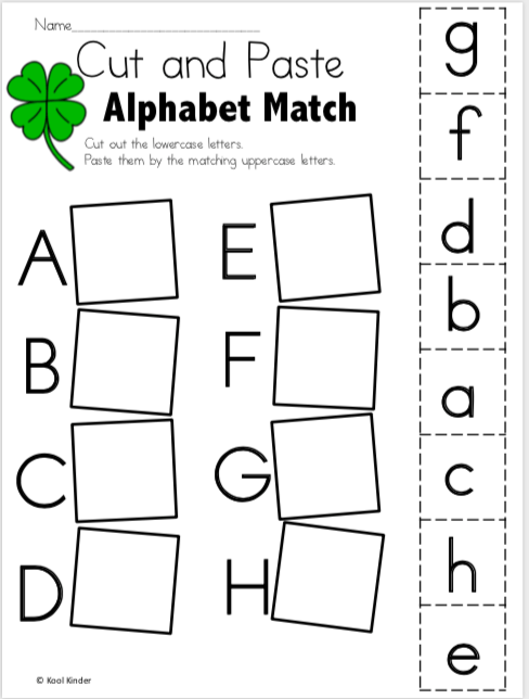 Free March Alphabet Worksheets For Kindergarten