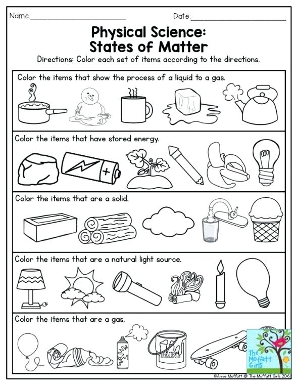 Classifying Matter Worksheet Science Worksheets Resources