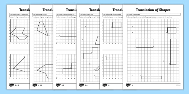 Ks2 Translation Of Shapes Worksheet Pack