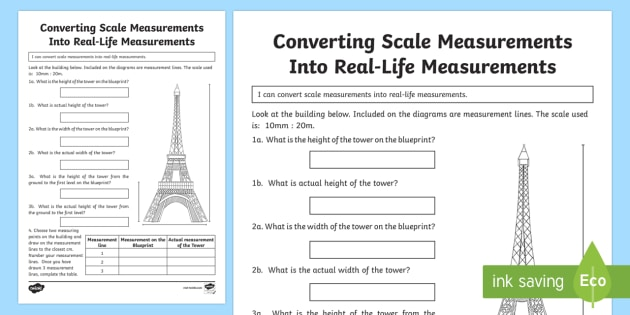 Converting Scale Measurements Into Real Life Measurements 3