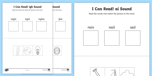 I Can Read Phase 3 Vowel Digraph Words Worksheet   Worksheets