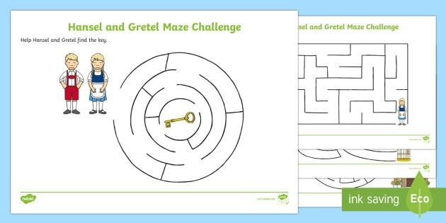 Hansel And Gretel Differentiated Maze Worksheet   Worksheet Pack