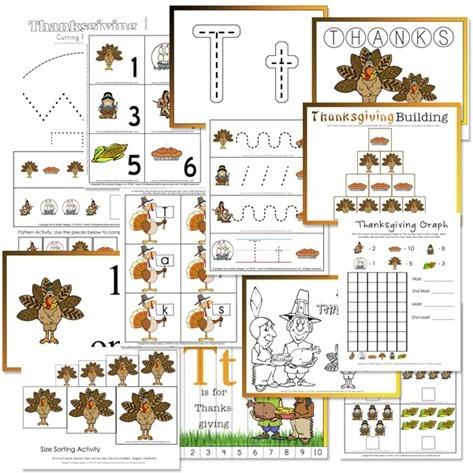 Thanksgiving Preschool Free Printables