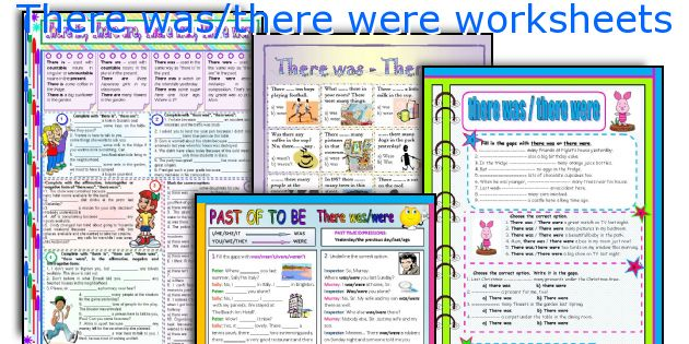 There Was There Were Worksheets