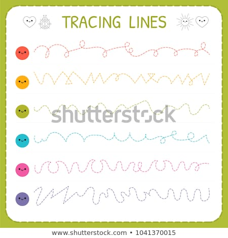 Tracing Lines Basic Writing Worksheet Kids Stock Vector (royalty