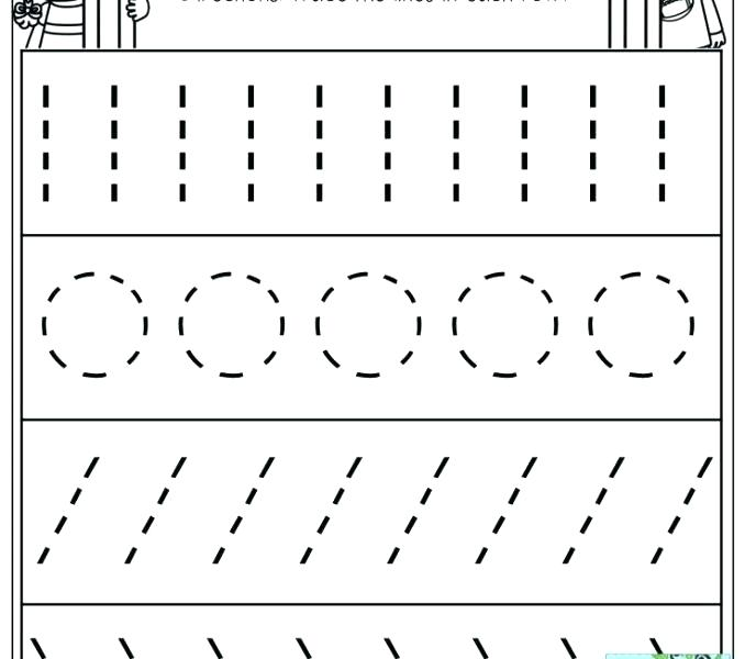 Tracing Straight Lines Worksheets Tracing Straight Lines