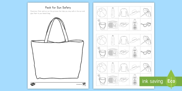 Pack For Sun Safety Worksheet   Worksheet