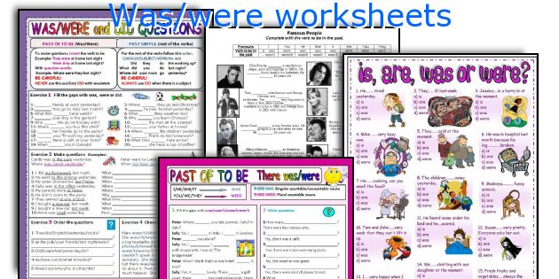 Was Were Worksheets