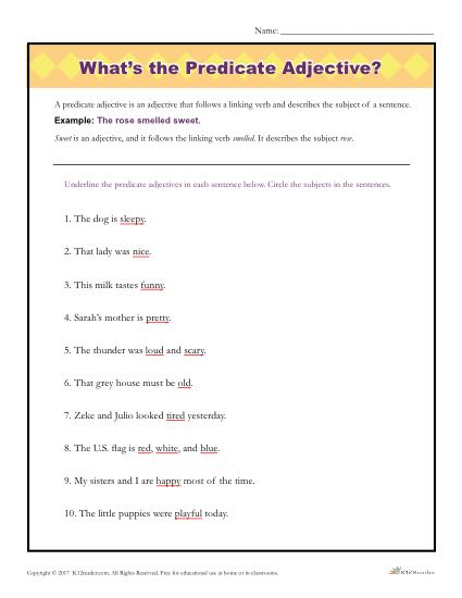 What's The Predicate Adjective