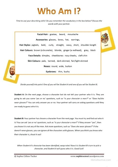 Who Am I Worksheet Free Printable Worksheets Made By Teachers For