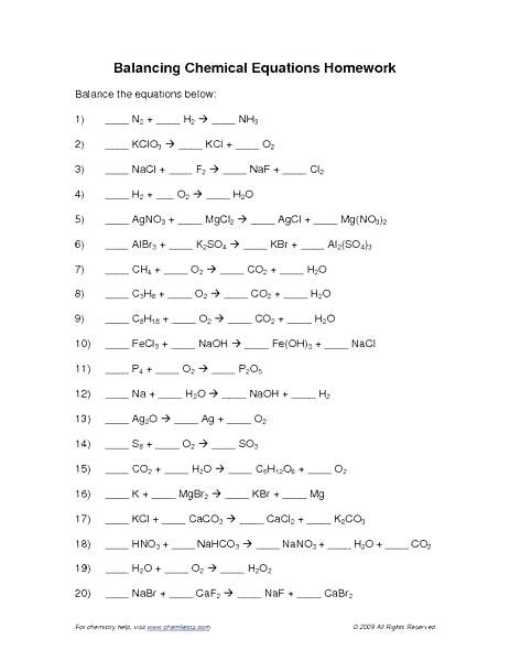 Word Equations Chemistry Worksheet Answers – Webbuilderdirectory Info