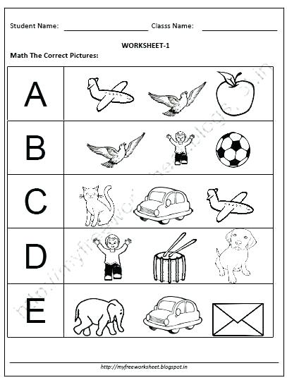 Worksheets For Kg K Kg 1 Maths And English Worksheets Pdf