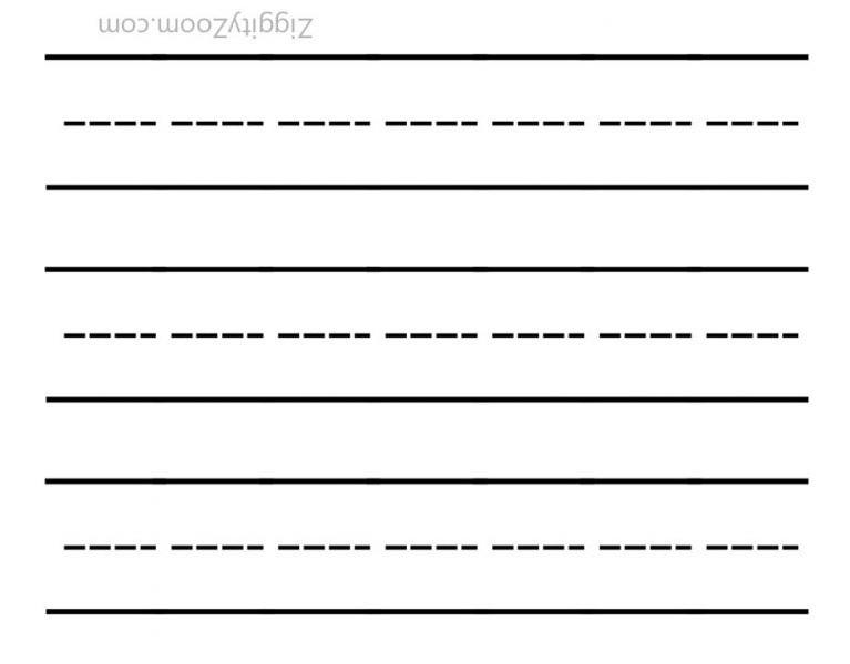 Blank Writing Template Worksheet