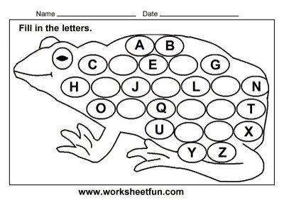 Frog Worksheets For Preschool