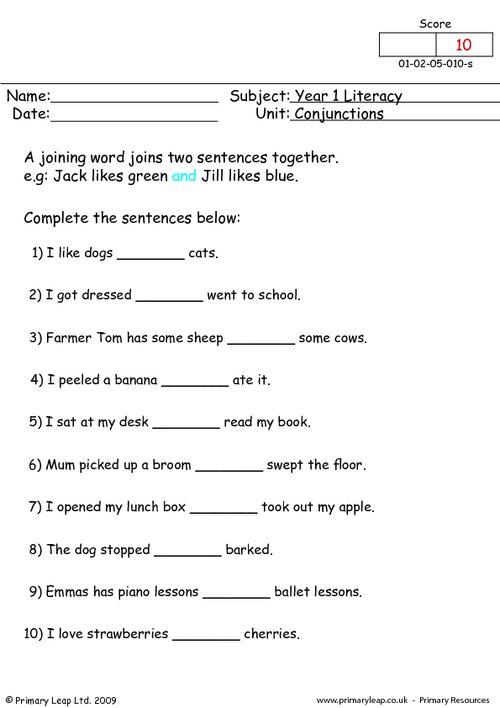 Conjunctions 1