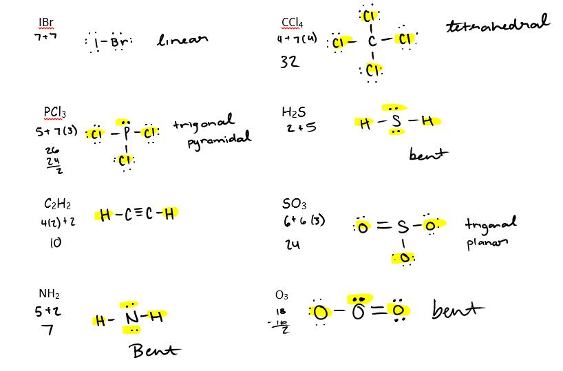 Molecular Geometry Lab Answers
