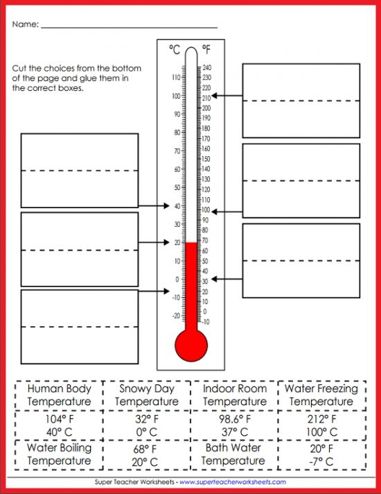 Teach Your Students All About Temperature! Super Teacher