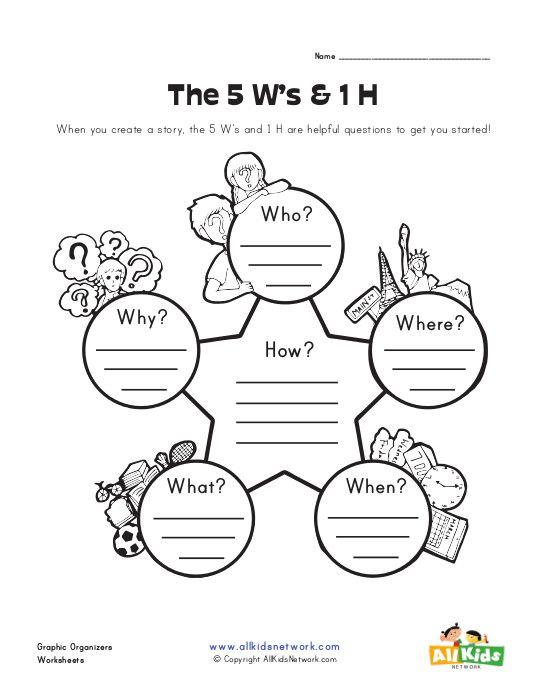 5ws Graphic Organizer Worksheet