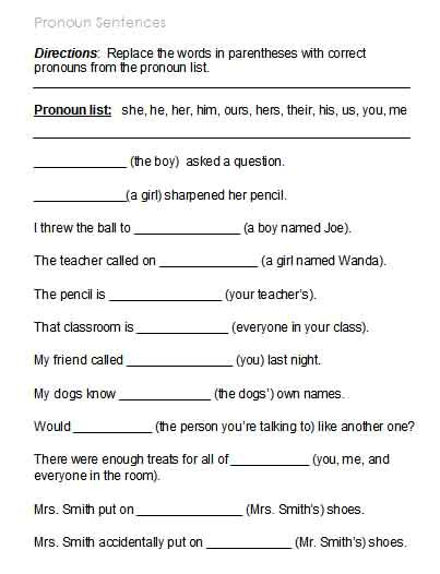 Free Possessive Pronoun Worksheets  1