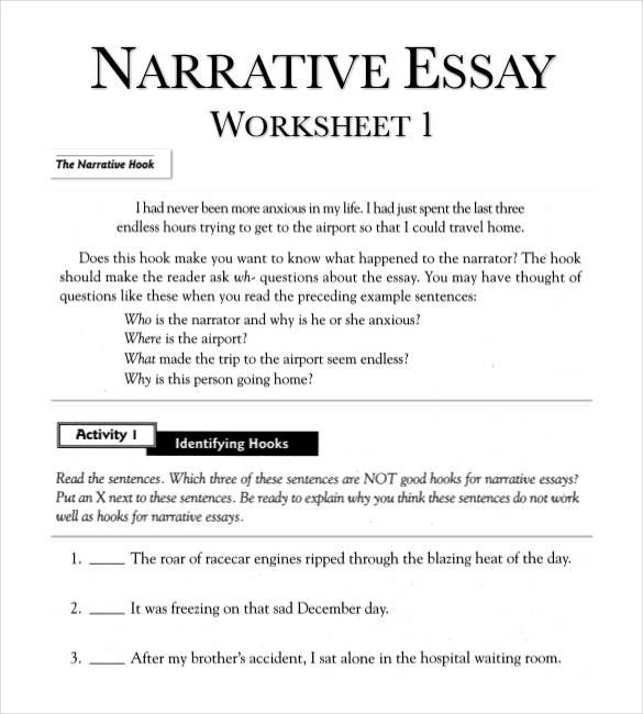 Essay Structure Worksheet Pdf