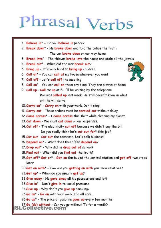 53 Phrasal Verbs