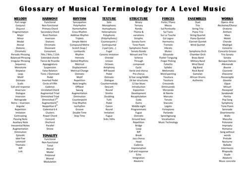 Image Result For Music Terminology Worksheet