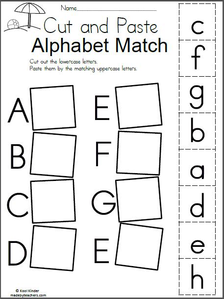 Summer Alphabet Match