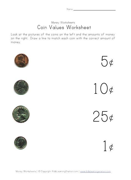 Money Coins Worksheet