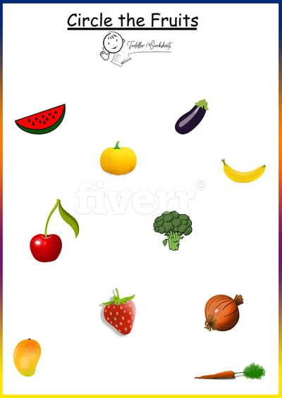 Circle The Fruits Worksheets Toddlers