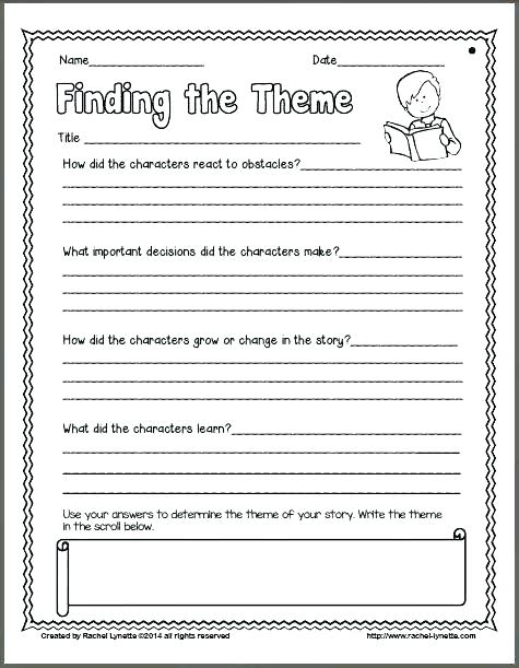 Theme Worksheets 4th Grade