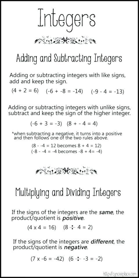 Adding Integers Worksheets Adding Integers Worksheets Grade Adding