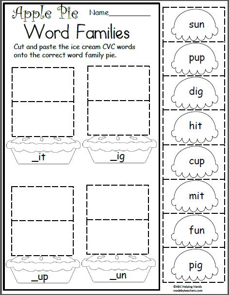 Free Kindergarten Worksheets For Language Arts