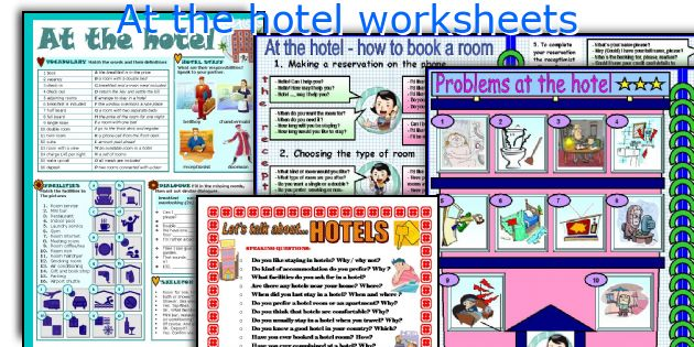 At The Hotel Worksheets