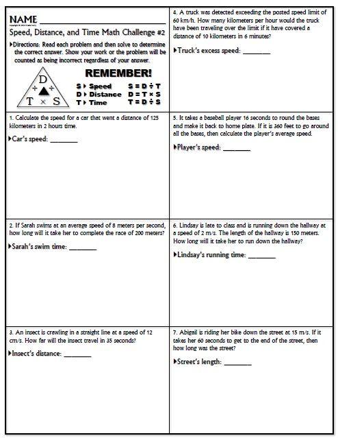 Worksheet  Speed Math Challenge Version 1