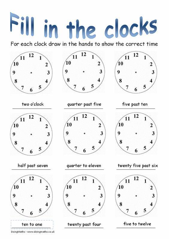 Free Worksheets Time Worksheets Oclock   Time Worksheets