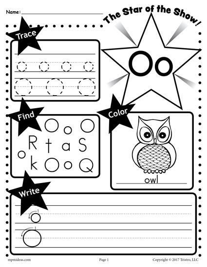 Free Letter O Worksheet  Tracing, Coloring, Writing & More